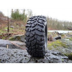 ROCK BEAST 1.9 SCALE RC TIRES W/2 STAGE FOAM - 2pcs