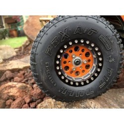 PITBULL PBX A/T HARDCORE 2.2 SCALE RC TIRES (ALIEN KOMPOUND) W/FOAM - 2pcs